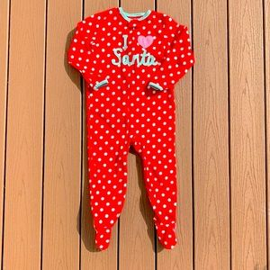 CARTERS JUST ONE YOU ONESIE w/FEET SZ 4T NWOT